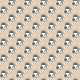 Coffee cups colorful cute seamless pattern Stock Photography