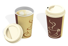 The coffee cups Royalty Free Stock Images