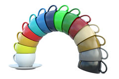 Coffee cups in group Stock Photography
