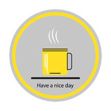 Coffee cups icon. Concept: a good day. Royalty Free Stock Photo