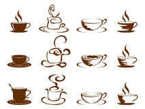 Coffee cups icon set Stock Image