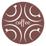 Coffee cups icon 2 Royalty Free Stock Photography