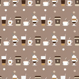 Coffee cups icons seamless pattern Stock Photos