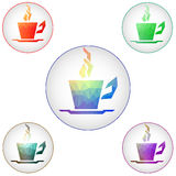 Coffee cups icons. Vector. Royalty Free Stock Image