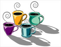 Coffee cups illustration Royalty Free Stock Photography