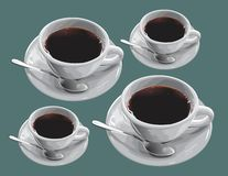 Coffee in the cups Stock Image