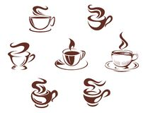 Coffee cups and mugs Royalty Free Stock Photography