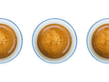 Coffee cups. Multiple coffee in blue cup Stock Photo