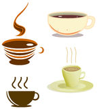 Coffee Cups Pack. A pack of illustrations of coffee cups in various styles royalty free illustration
