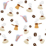 Coffee cups pattern Royalty Free Stock Photography