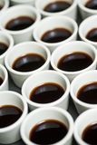 Coffee cups pattern Stock Images