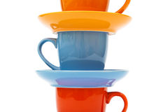 Coffee cups and saucers Royalty Free Stock Image
