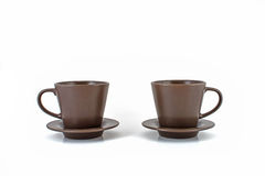 Coffee cups and saucers Royalty Free Stock Photo
