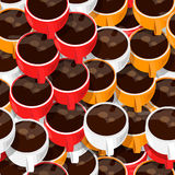 Coffee cups seamless pattern. Cups of coffee seamless pattern Stock Photo