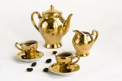 Coffee cups set Stock Image