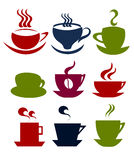 Coffee cups set Royalty Free Stock Images