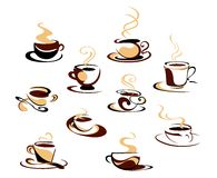 Coffee cups set Stock Photo