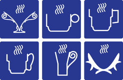 Coffee Cups - set icons. Coffee Cups - set of icons On blue background royalty free illustration