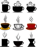 Coffee cups set Stock Image