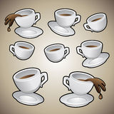 Coffee Cups Set Royalty Free Stock Photos