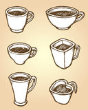 Coffee Cups Sketch Stock Photos