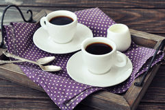 Coffee in cups Royalty Free Stock Photo
