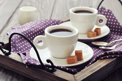 Coffee in cups Stock Image