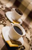 Coffee cups on table Royalty Free Stock Image