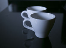 Coffee Cups. On the table Stock Photography
