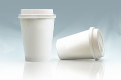 Coffee cups to go Royalty Free Stock Photo
