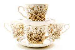Coffee cups with under plate Royalty Free Stock Photo