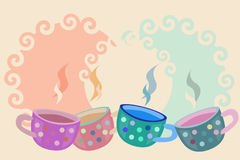 Coffee cups vector Stock Image