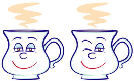 Coffee cups (Vector) Stock Photo