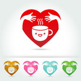 Coffee cute cup logo design elements Stock Photography