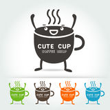 Coffee cute cup logo Vector Stock Image