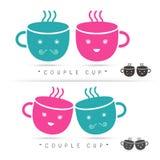 Coffee cute cup logo Vector Stock Photography