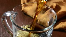 Coffee and dark chocolate stock video