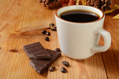 Coffee and dark chocolate Royalty Free Stock Images