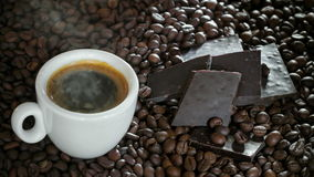 Coffee And Dark Chocolate stock video footage