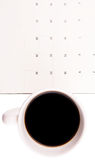 Coffee And Day Planner I Stock Images