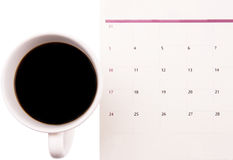 Coffee And Day Planner II Royalty Free Stock Photo