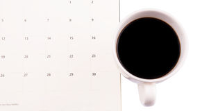 Coffee And Day Planner IV Stock Photo
