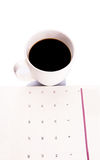 Coffee And Day Planner V Stock Image