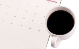 Coffee And Day Planner VI Stock Photo