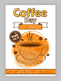 Coffee Day Template, Brochure or Flyer design. Stock Images