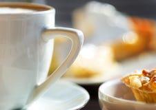 Coffee with delicious cake Stock Photos
