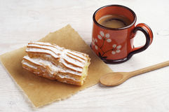 Coffee and delicious cake Stock Images