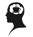 Coffee dependence stock image