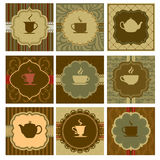 Coffee design. A vector illustration of different coffee designs Royalty Free Stock Photo