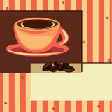 Coffee design card Stock Images